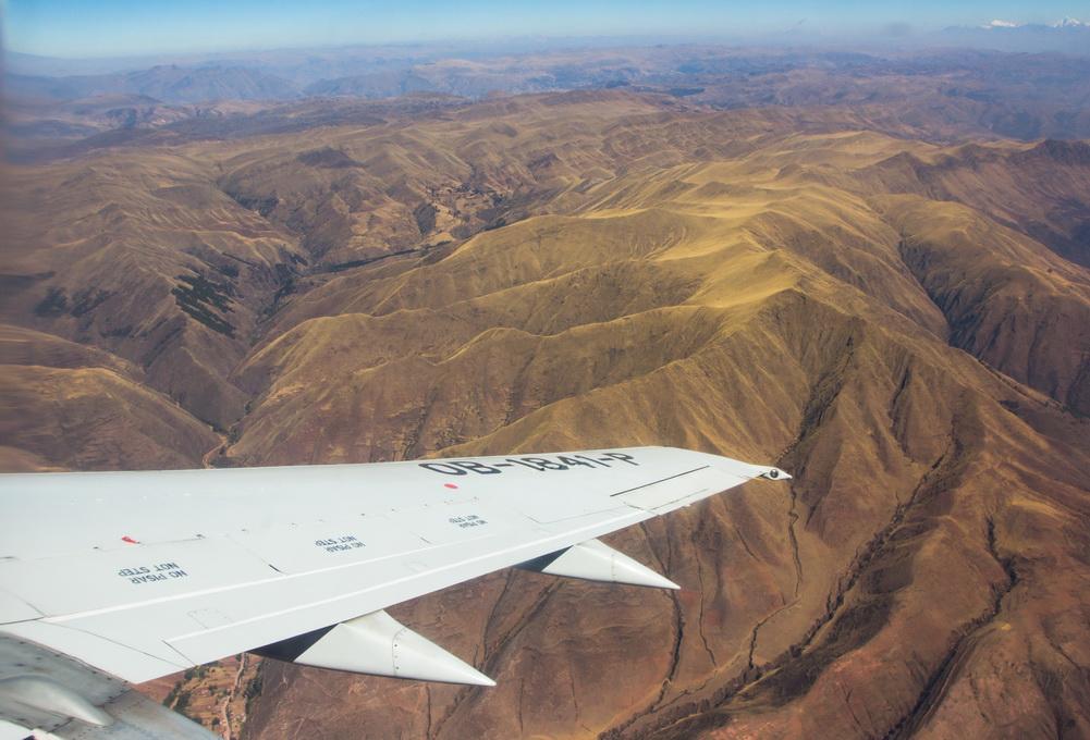 Plane to Machu Picchu